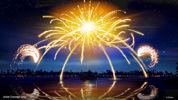 New Illuminations nighttime spectacular at Epcot Concept Art