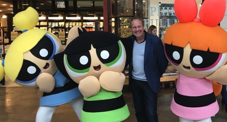 Simon-Foulkes-Rainbow-Productions-with-Powerpuff-Girls-mascots
