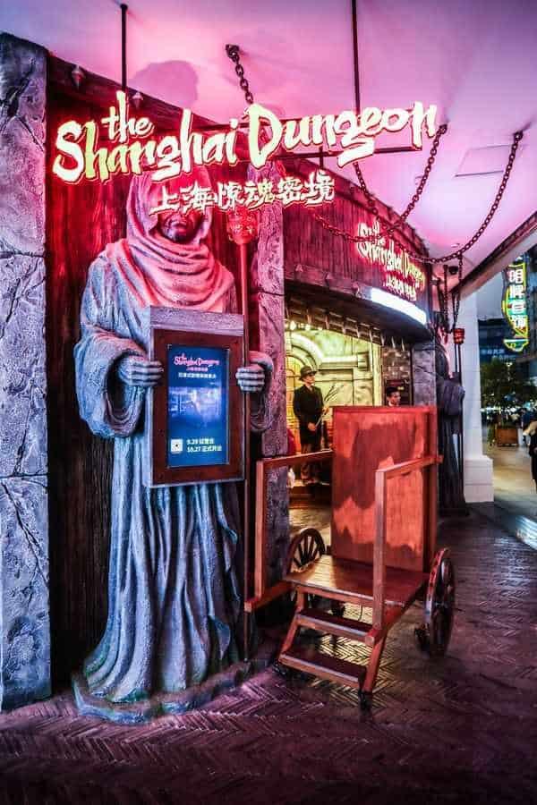 The Shanghai Dungeon Grim Reaper at the entrance at Mosaic Shanghai