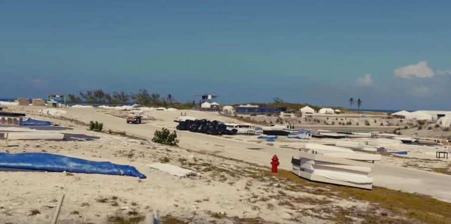 Unfinished campsites from the Hulu Documentary FYRE FRAUD