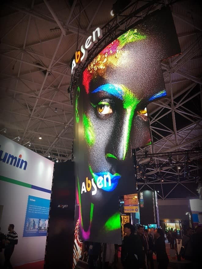 Absen Curved LED at ise 2019