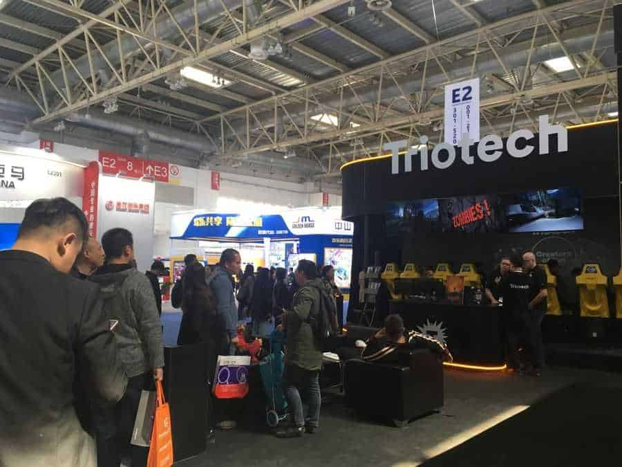 CAE Beijing 2019 Triotech's busy booth