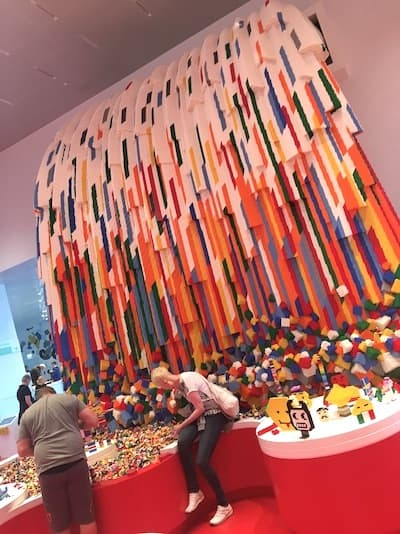 Lego-House_Red Zone waterfall