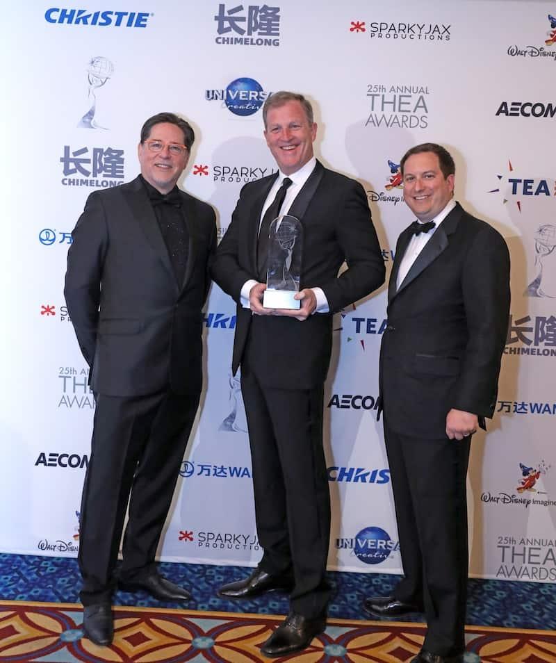 Joseph Cortina of Cortina Productions with Robert Shenk and Matt Briney of George Washington's Mount Vernon TEA Summit 2019 Thea Awards