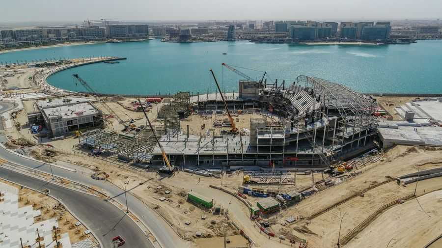 Yas Bay Arena under construction