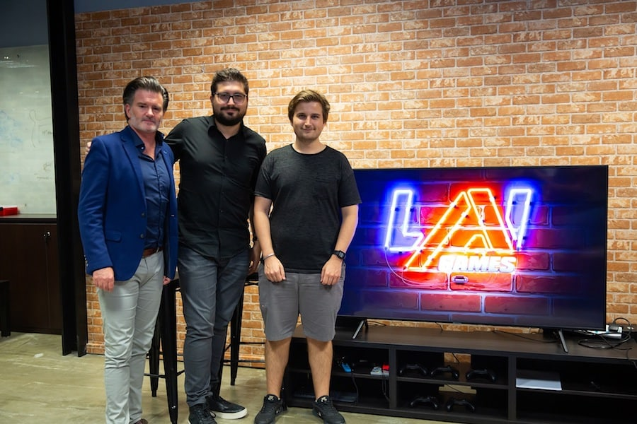 LAI-Games-recruitment-event-Timezone's-Jason-Bogie-LAI-Games-VP-of-RD-Shannon-Perell-and-Lead-Game-Developer-Liam-Cary