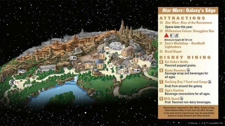 Star Wars: Galaxy's Edge map Disneyland