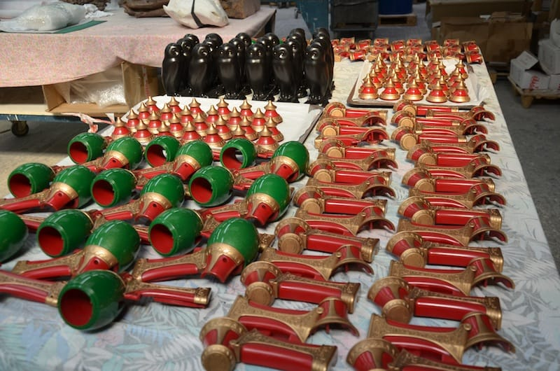 Shooters or 'caramel dispensers' prior to assembly