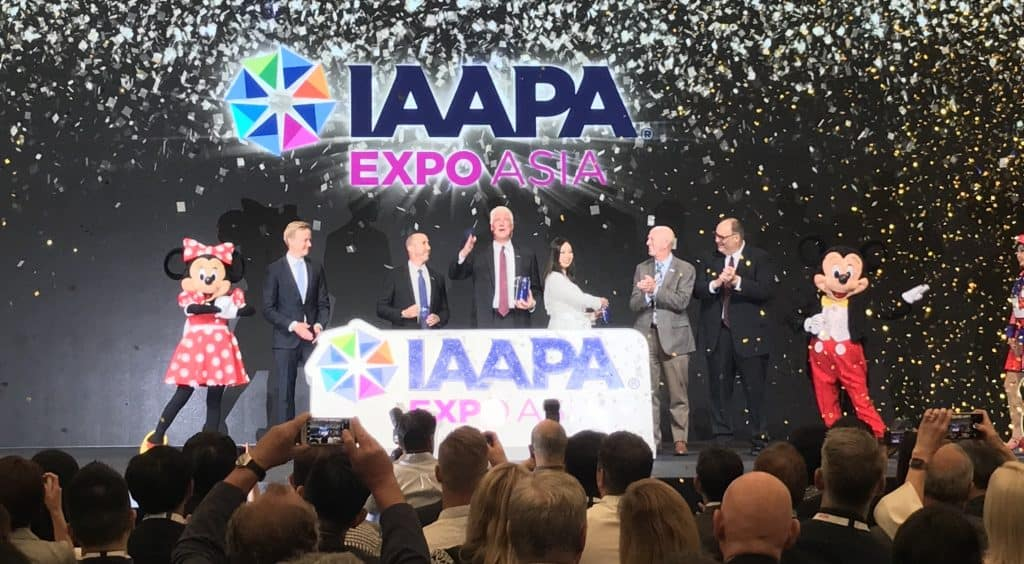 IAAPA Expo Asia 2019 the leadership and mickey and minnie