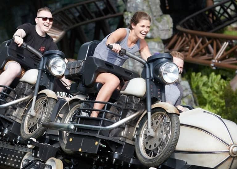 Hagrid's Magical Creatures Motorbike Adventure story coaster