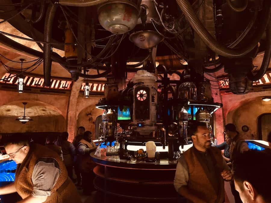 Cocktail canisters at Oga's Cantina