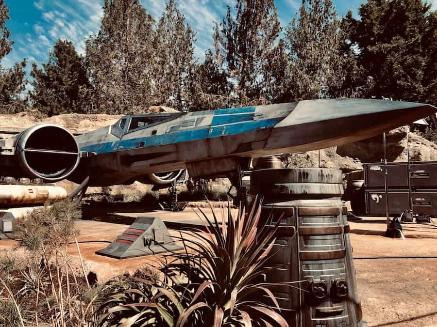 X Wing fighter at SWGE