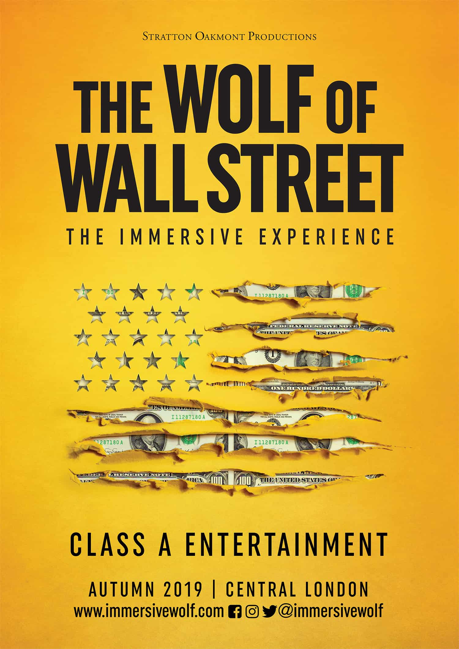 wolf of wall street immersive experience london