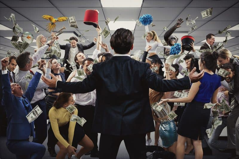 wolf of wall street immersive production
