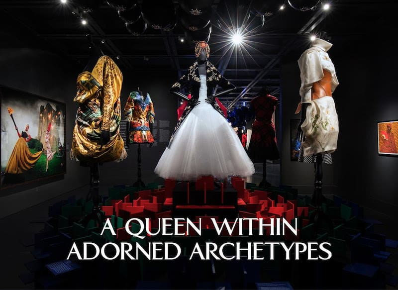 queen with adorned archetypes exhibition