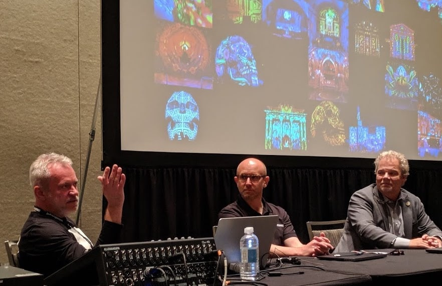 the panel infocomm blooloop projection in the attractions sector