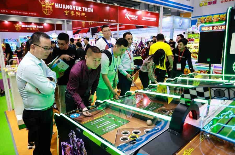 AAA 2019 Attendees at Coin Op Machines