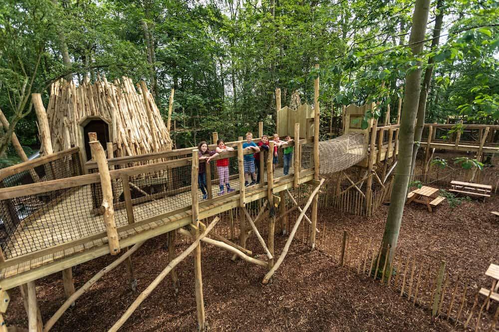 natural playground equipment at Skelf Island, Castle Howard