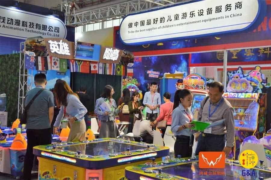 Games and Amusement Fair 2018 Attendees interacting with exhibitors