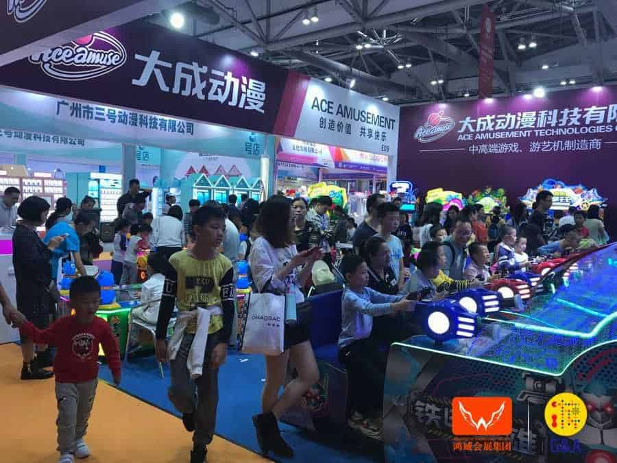 Games and Amusement Fair 2018 Attendees playing amusement games