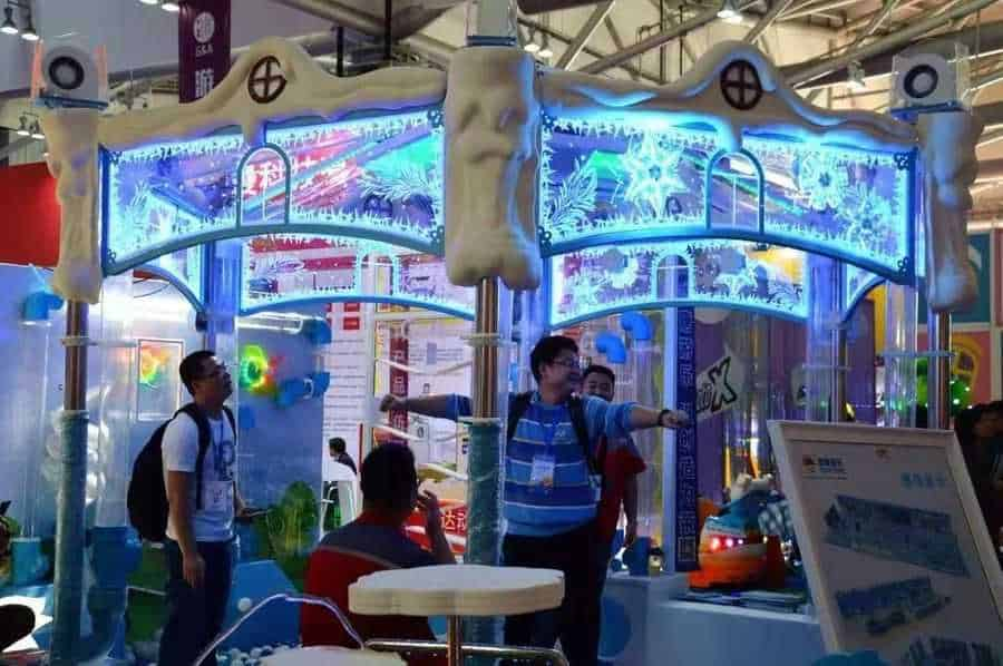 Games and Amusement Fair 2018 Attendees trying out product