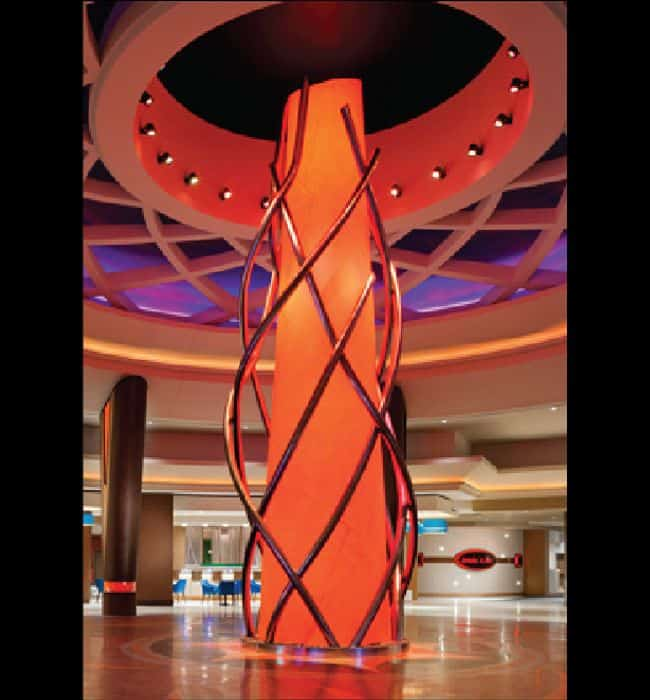Lexington Harrah's Cherokee Casino pillar