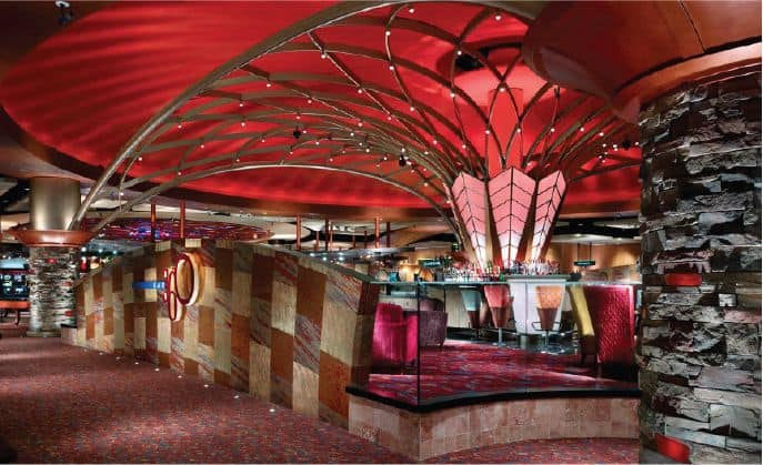 Lexington Harrah's Cherokee Casino red ceiling