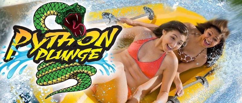 python plunge six flags