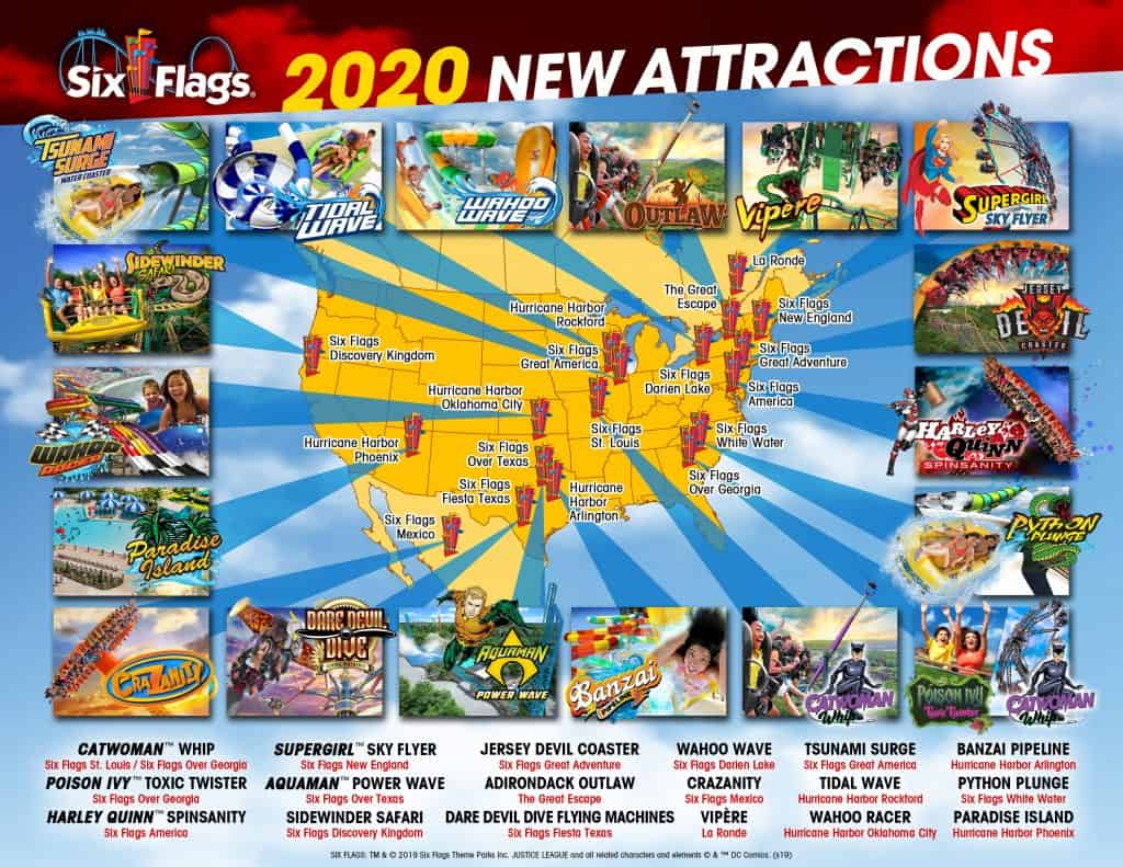 six flags 2020 new attractions