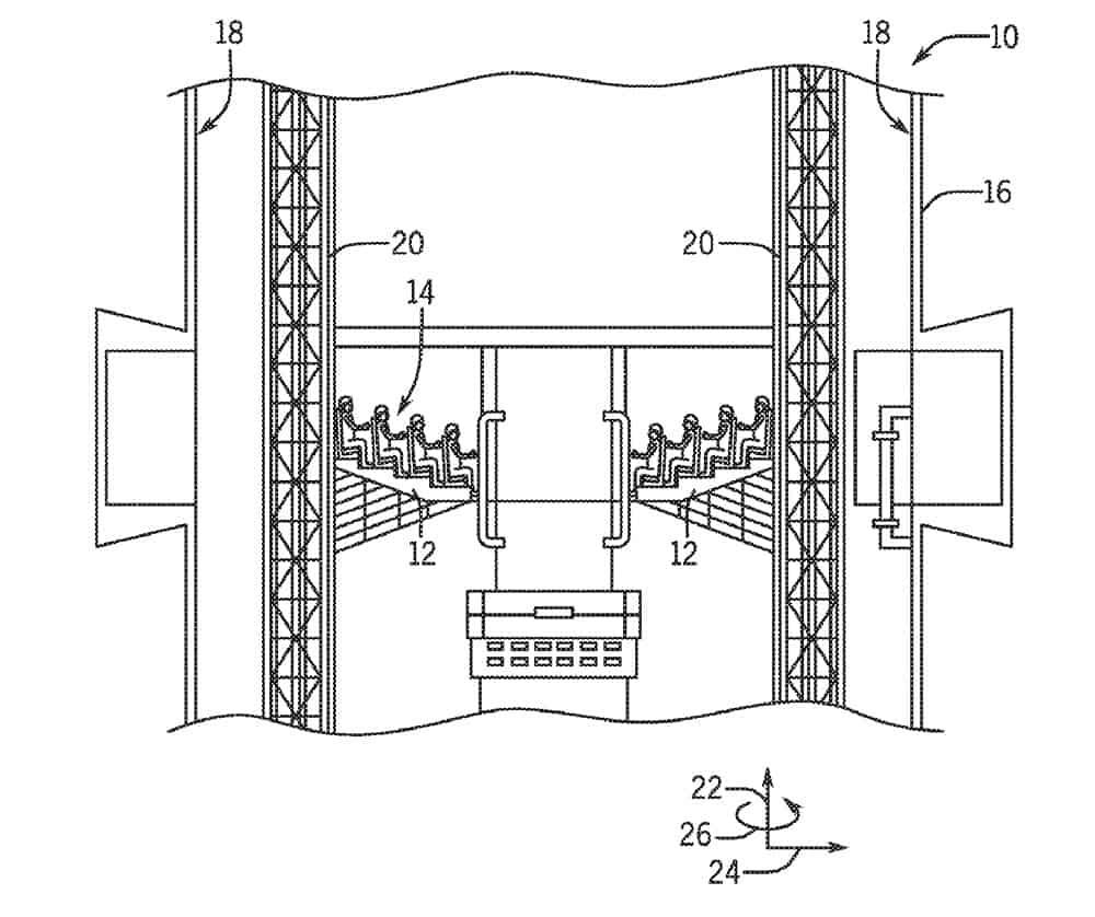 universal patent interactive tower ride