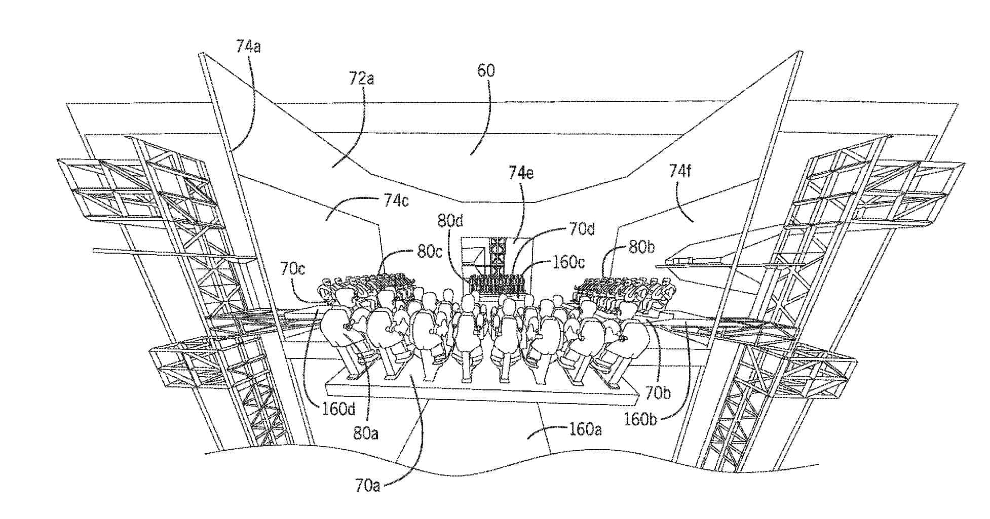 universal patent stacked room rotating lift