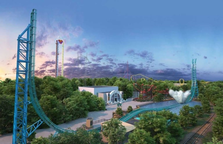 Six Flags 2020 line-up Mack Rides Aquaman Power Wave