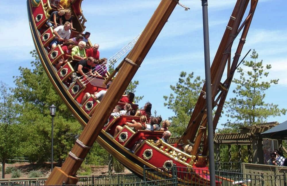 A new Galleon ship installed recently by Zamperla at Parc Du Bocasse in France