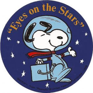 eyes-on-the-stars-patch silver snoopy nasa