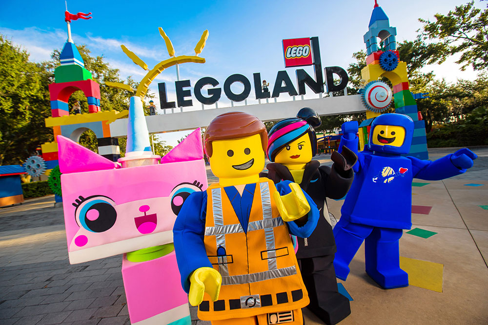 Legoland entrance with characters