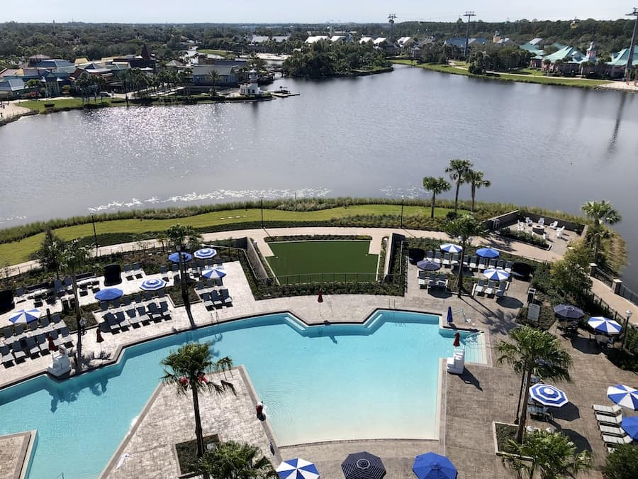 View over Barefoot bay from Disney's Riviera Resort