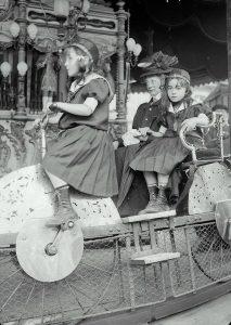 Carousel in Luna Park, Paris, 1910