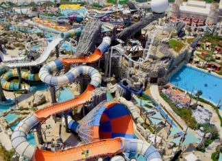 Mammoth water slide at Yas Waterworld by ProSlide