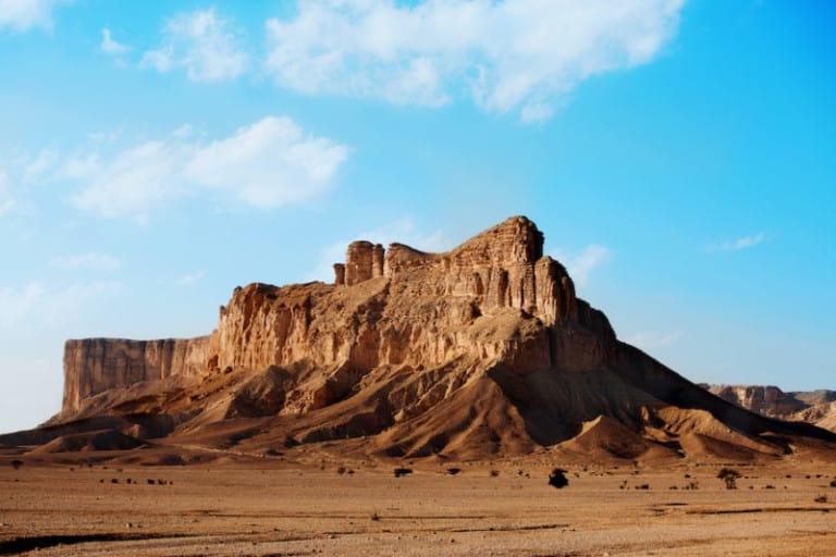 Mountain at the site of the Qiddiya giga-project
