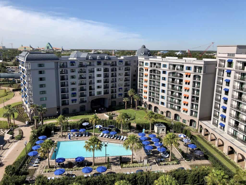 View of the pool from the roof of Disney's Riviera Resort