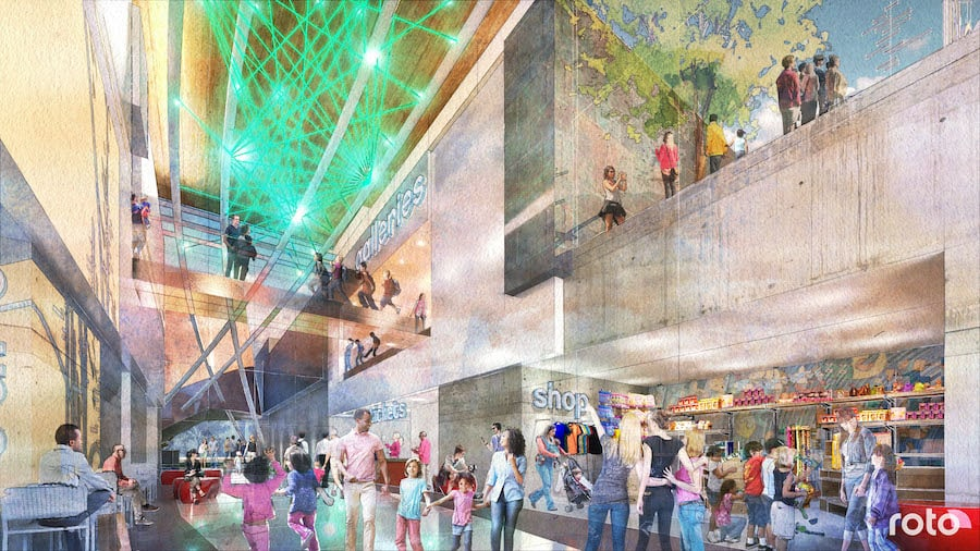 Renderings for children's science centre Virginia by Roto