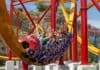 Wonder Woman coaster at Six Flags Fiesta Texas