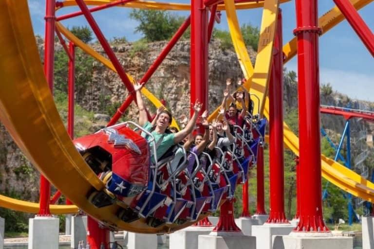 Wonder Woman coaster at Six Flags Fiesta Texas