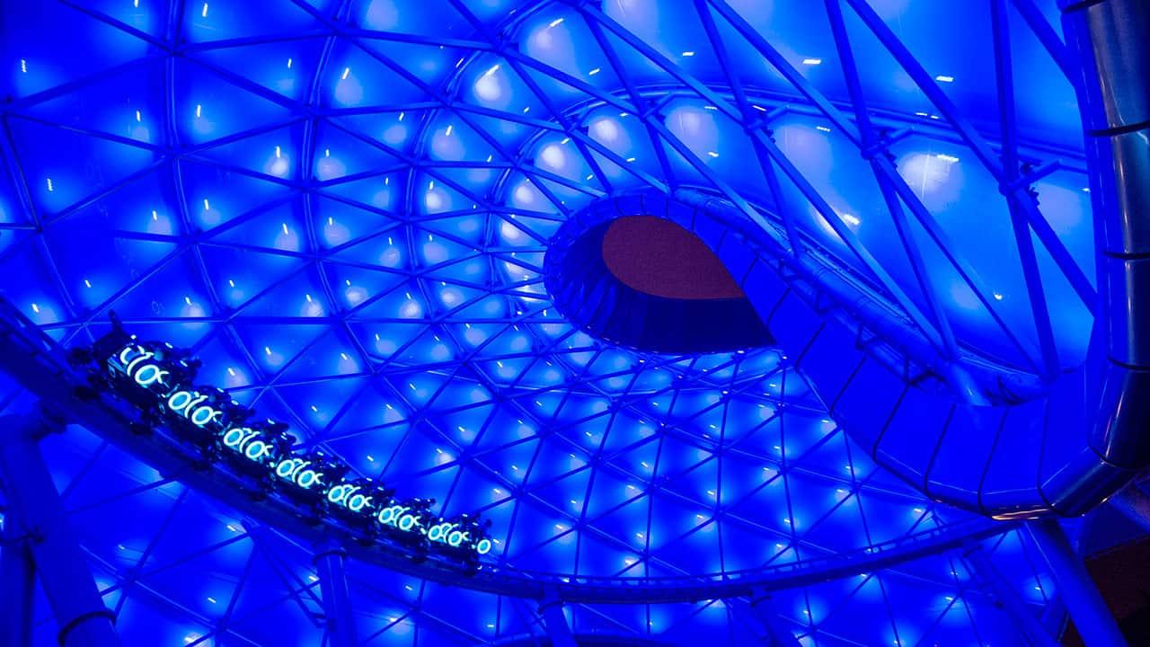 Tron Lightcycle Power Run Shanghai Disneyland best themed roller coasters