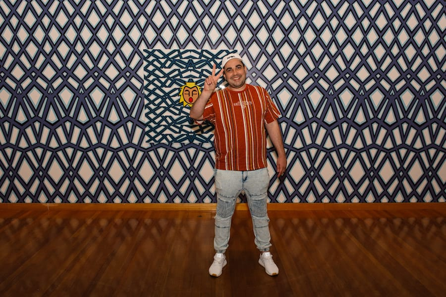 Josh Muir at his WHAT'S ON YOUR MIND exhibition at the Bendigo Art Gallery