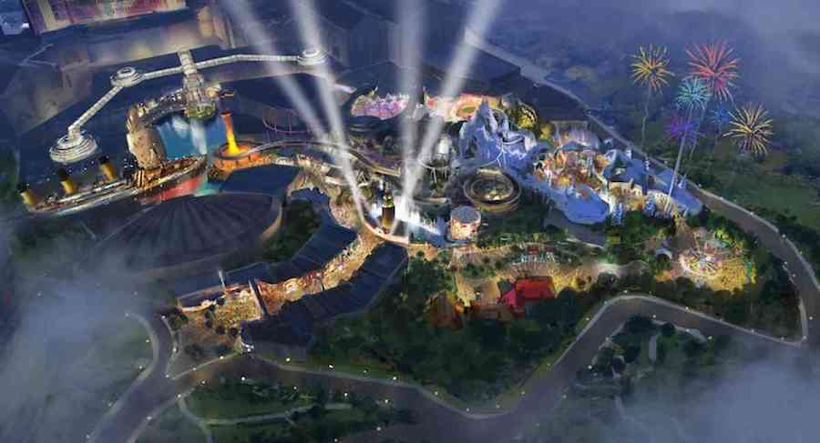 Artist impression of 20th Century Fox World Malaysia, despite breaking with Fox this new park is likely to be one of the best new themed attractions for 2020