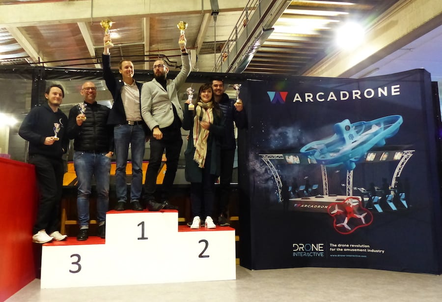 teams competing in Drone Interactive's ARCADRONE tournament