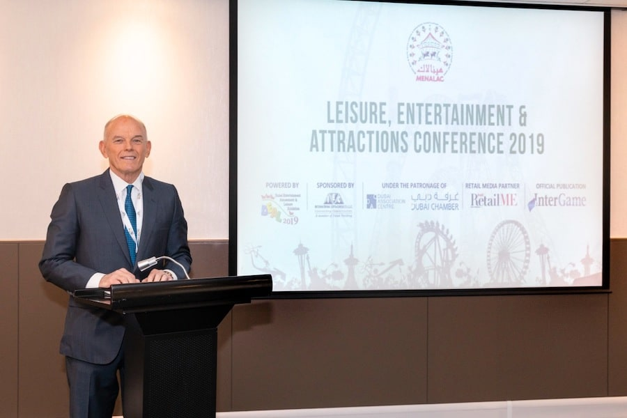 Bill Ernest, CEO of SEVEN, speaking at Leisure, Entertainment and Attractions Conference 2019