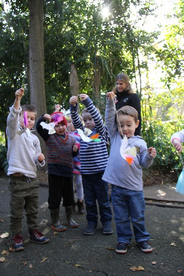 engaging with local children through activities at Adelaide Zoo, part of Zoos SA