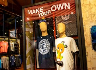 Manequins showing personalised apparel from Walt Disney World MADE